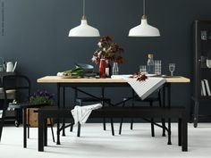 12 Editors' Picks from the 2017 Ikea Catalog \ Dining Table Kitchen Interior Designs \ Home Decor Ikea Bjursta, Bjursta Table, Ikea Inspiration, Fabrikor Ikea, Raskog Ikea, Interior Styling, Interior Decorating, Ikea Christmas, Dining Rooms