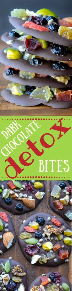 Dark Chocolate Detox Bites are the healthy way to do dessert! ~ theviewfromgreatisland.com