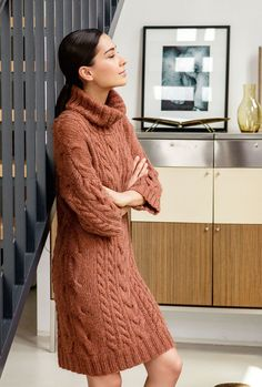 Designer Clothes, Shoes & Bags for Women Sweater Dress Boots, Jacket Dress, Knit Dress, Knit Fashion, Sweater Fashion, Fall Winter Outfits, Winter Dresses, Thick Sweaters, Sweaters For Women