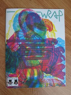 Wrap is a beautiful large format magazine bound with an elastic (no staples)