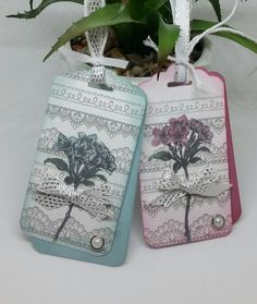 Stampin' Up! Demonstrator stampwithpeg : Sale-a-bration Wednesday, The Delicate Details of Avant Garden – Gift tags. Not a card for this SAB Wednesday, I wanted to use the other