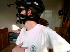 Me in low-key  cycle gear by tiexano, via Flickr  #myrespromask