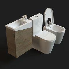 El artista 3D Denis Krasikov regala, por medio del repositorio de modelos CGTrader, este juego de equipamiento para baño de la marca Urb.y Plus.