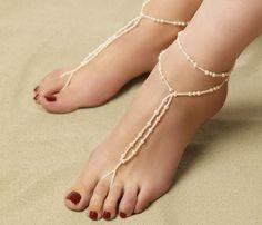Tahitian Bride Barefoot Sandals