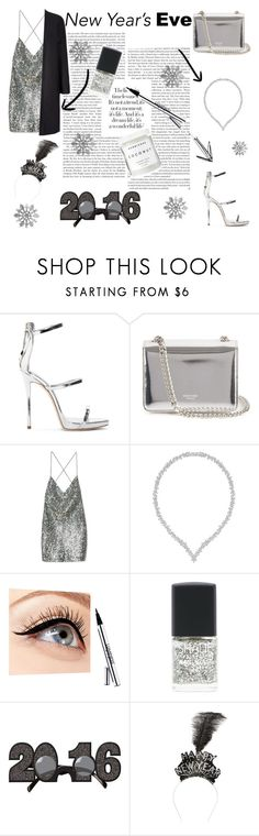 """""""Happy New Year!!!"""" by zaylestyle ❤ liked on Polyvore featuring Giuseppe Zanotti, Rochas, Marc Jacobs, Swarovski, Luminess Air, Lane Bryant, Herbivore Botanicals and Cara"""