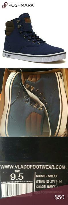 966d5fc579e0 Men s Vlado Milo Canvas Navy New in the box Vlado Shoes Sneakers Dress  Styles