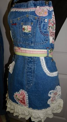 Recycled+Jeans+Crafts | Tea's Hope Chest~~: Recycled Bib Blue Jeans Craft Apron