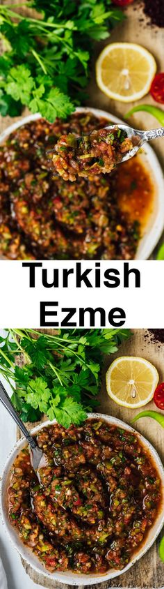 Served as a sauce on kebabs or as a salsa with some pita, Turkish ezme is a treat nobody can resist.