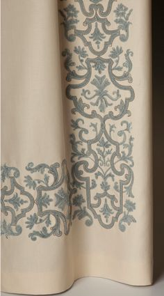Embroidered curtain panel by Holland and Sherry