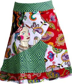 DESIGUAL - Tumulto Skirt.....could use for apron design...