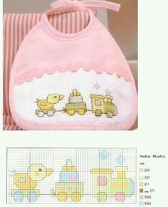 Resultado de imagen de graficos em ponto cruz para bebe