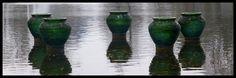 Glazen Vazen op het water!!