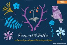 Ferns and Fables: Clip Art by Amy Ina Studio on Creative Market