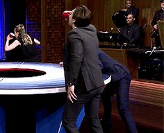 VICTORY! Haha! Oh, Sebastian. You adorable Romanian buttercup!