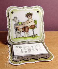 My Crafty Life: Teddy Bo's back... and it's just for the men at Dream Valley...  Handmade calendar gift, Teddy Bo digi image