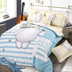 Queen Size 4-pieces Big Hero 6 Baymax Duvet Cover Set - Home