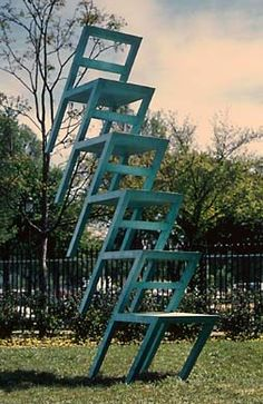 Lucas Samaras  American, born 1936, Greece  Chair Transformation Number 20B, 1996  patinated bronze  The Nancy Lee and Perry Bass Fund 1998.99.1