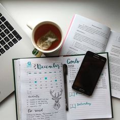 Разворот на декабрь, ежедневник, личный дневник