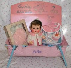 Tiny Tears Car Bed edition, Holly this was my first doll that I can remember getting as a little girl.