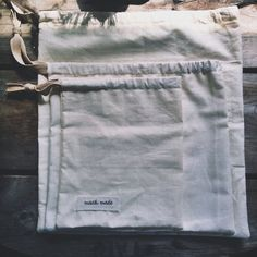 reusable muslin produce bags: 3 pack on Etsy, $12.00
