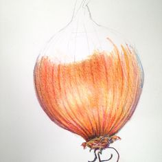 Learn to paint an onion as part of Kate Clarke's Still Life Textures Course coming soon to ArtTutor