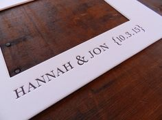 Personalized Letterpress Wedding Guest Book by TypothecaryPress