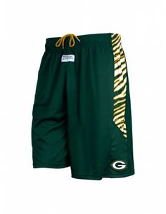 NFL Officially Licensed Green Bay Packers Zebra Athletic Shorts