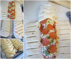 Braided Pizza Calzone