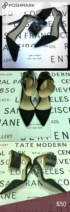 """New Listing! Sexy d'orsay Styled Pumps Sexy Zara Pumps have ankle straps. Approx heel height 4"""". Only worn once. Has plastic sole lining on bottom still. Just small imperfection on strap in photo 4 Zara Shoes Heels"""