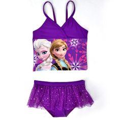 3e8c8d3fcc419 2015 Newest Frozen Girls Two Pieces Swimwear Elsa Anna Toddler Girl Bikini  Cartoon Children Swimsuit Summer