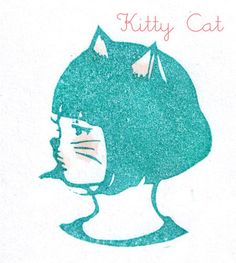 Kitty Cat stamp by DearYouFromKozue, via Flickr
