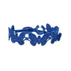 "Cruciani ""Schmetterling Royal blau""    - Schmetterlingsarmband von Cruciani aus Makramee Spitze   http://www.blissany.com/marken/cruciani.html"