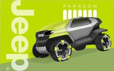 Jeep Paragon by Adrian Clarke Jeep Concept, Concept Cars, Car Design Sketch, Car Sketch, Mini Jeep, Mermaid Sketch, Suv Camping, Offroader, Futuristic Cars