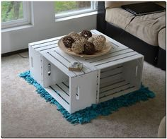 fruit crates table idea