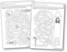 Fiches d'activités : Les labyrinthes de princesses