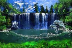 Живые обои Waterfall Live Wallpaper