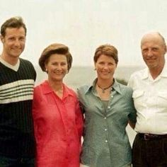 L to R Crown Prince Haakon, Queen Sonja, Crown Princess Martha Louise, + King Harald V (before their children's marriages)