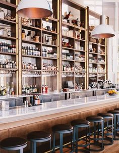 The New Restaurant St. Cecilia Brings the Italian Riviera to Atlanta {obsessed with those lights!}: