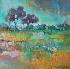 """Marsh,"" by Erin Gregory, 12"" by 12"" on gallery wrap, $275    Gregg Irby Fine Art Gallery"