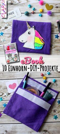 """Süßes eBook mit Rezepten, Schmuckanleitungen und Deko-DIYs: """"10 Einhorn-DIY-Projekte"""" Jedes DIY wird ausführlich und bebildert erklärt. (Affiliate Link)"""