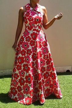 Ericdress African Fashion Floor-Length Sleeveless Expansion Floral Dress We Offer Top Good Quality Cheap Clothes For Women And Men Clothing Wholesaler, Get Affordable Clothing At Worldwide. African Print Dresses, African Print Fashion, African Fashion Dresses, African Dress, Fashion Prints, African Style, Ankara Maxi Dress, Cheap Maxi Dresses, Fall Dresses