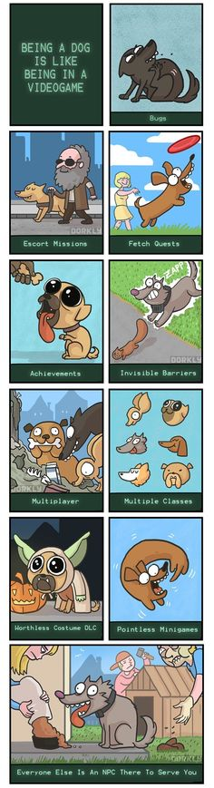 Being a dog is like an RPG