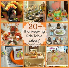 20+ Kids Thanksgiving table ideas