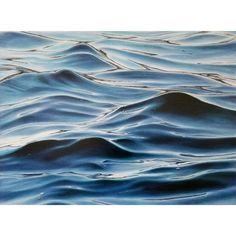 Professionally framed in warm silver floater frame. Signed by artist Framed Dimensions: 32 x 42 Ocean Art, Ocean Waves, Ocean Sunset, Water Waves, Water Patterns, Ocean Wallpaper, Wave Art, Seascape Paintings, Pastel Art