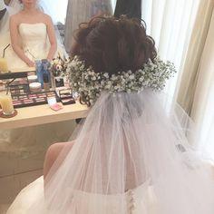 いいね!3,923件、コメント18件 ― マリさん(@brillantmari)のInstagramアカウント: 「* * happy ♡ wedding * * * #ヘアアレンジ #ウェディング #マリhair」