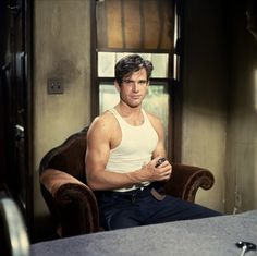 Warren Beatty as Clyde Barrow in Bonnie and Clyde