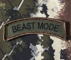 BEAST-MODE-ARMY-ROCKER-TAB-USA-MORALE-FOREST-PATCH-VELCRO-BRAND-FASTENER