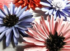 Cathyplus5: flowers for you:) #ArtPhilosophy #tutorial how to make these flowers including the cut sizes