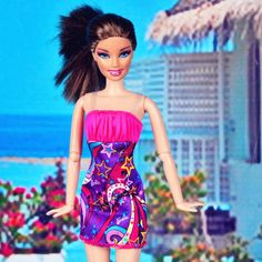 lovely high quality handmade nice clothes dress for Barbie Doll lA756