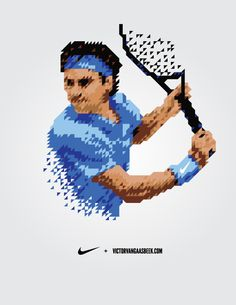 NIKE Tennis Shirts by Victor van Gaasbeek, via Behance
